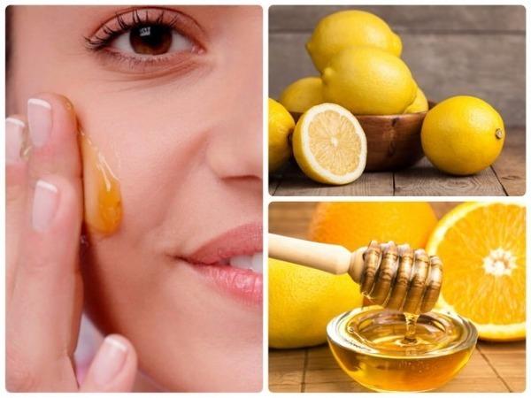 маска с медом и лимоном